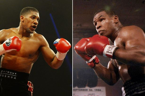 Mike Tyson a Anthony Joshua
